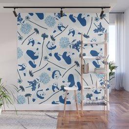 Blue Pandas Wall Mural