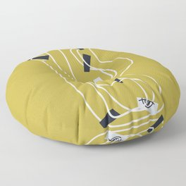 Fools [Sable Gold] Floor Pillow