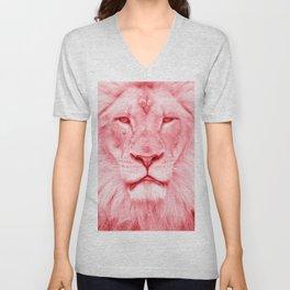 Pink lion Unisex V-Neck