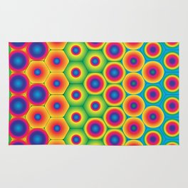 Rainbow Hexagon Rug