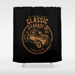 classic garage Shower Curtain