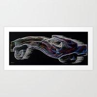 Neon Jalopy Art Print