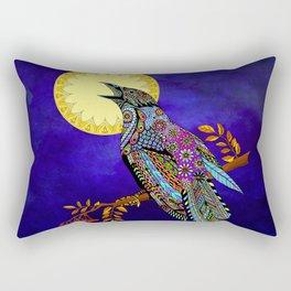 Electric Crow Rectangular Pillow