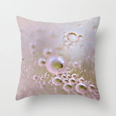 Light and Bubbly Throw Pillow