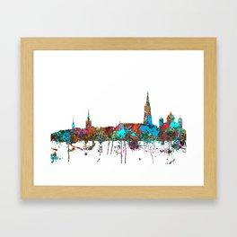Berne, Switzerland Skyline - CONFETTI Framed Art Print