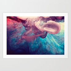 Ink and Water Art Print