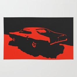Mercury Marauder, Red on Black Rug