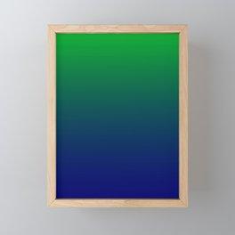 Green to Blue Gradient Framed Mini Art Print