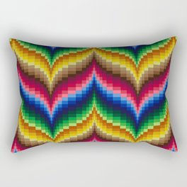 Bargello Quilt Pattern Impression 1 Rectangular Pillow