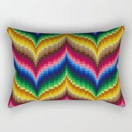 Bargello Quilt Pattern Impression 1 Rectangular Pillow