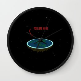 "Flat Earth - ""You Are Here"" Wall Clock"
