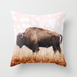 Boho Buffalo Throw Pillow