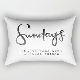 Sundays Rectangular Pillow