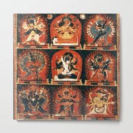 Chakrasamvara Vajravarahi Tantra Thangka Metal Print