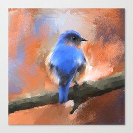 My Little Bluebird Canvas Print