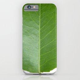 Vivid Green Leaf iPhone Case