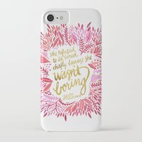 fitzgerald iPhone & iPod Cases featuring Zelda Fitzgerald – Pink on White by Cat Coquillette