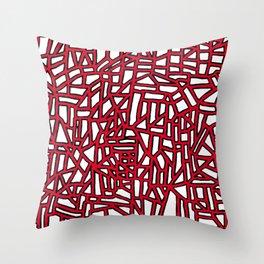 Landforms - StoneRoses Red Throw Pillow