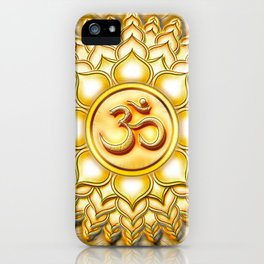 Crown Chakra - Sahasrara Chakra Golden - Series I iPhone Case