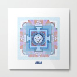 Sixth Chakra Third Eye (Anja) (Chakra Series) #6 Metal Print