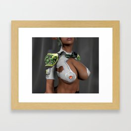 Star Trekkie type of Small Asian Cosplayer with amazing assets and a very tight outer space uniform Framed Art Print