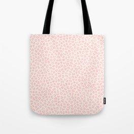 Modern ivory blush pink girly cheetah animal print pattern Tote Bag