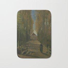 Avenue of Poplars in Autumn Bath Mat