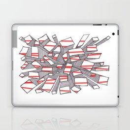 Red Fragmentation Laptop & iPad Skin