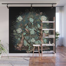 Sacred Geometry Mother - muted colors Wall Mural