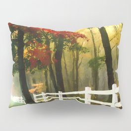 Fall scene with fence Pillow Sham