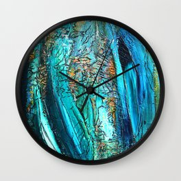 Doodle in blue Wall Clock