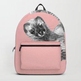 Siberian weasel Pink Backpack