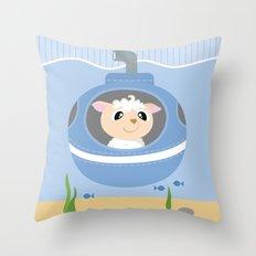 Mobil series submarine sheep Throw Pillow