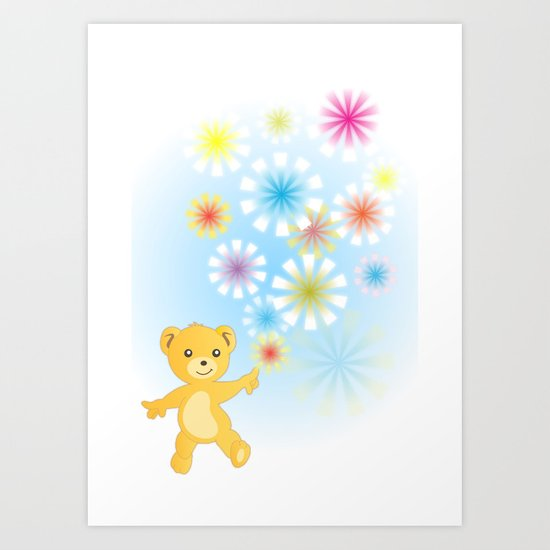 Golden Bear Art Print