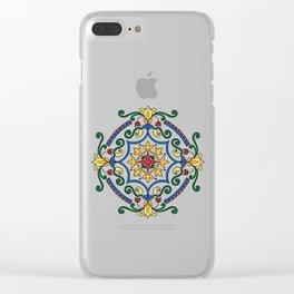 Vintage mandala with flourish elements Clear iPhone Case