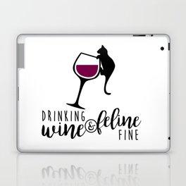 Drinking Wine and Feline Fine  |  Crazy Cat Lady Laptop & iPad Skin