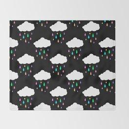 Rainbow Rain Cloud Throw Blanket