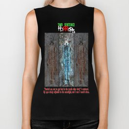 The Thin Man story by Two Sentence Horrors Biker Tank