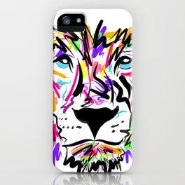 Leo Lion Lines iPhone Case
