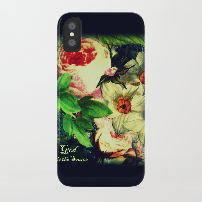 God is the Source iPhone Case