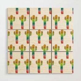Desert Rainbow II PRIDE PATTERN Wood Wall Art