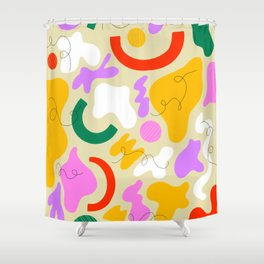 Squiggly Pops Shower Curtain