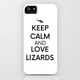 Pet Keep Calm Reptile Lizard Geko Gift iPhone Case
