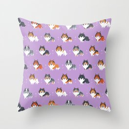 Shelties Throw Pillow