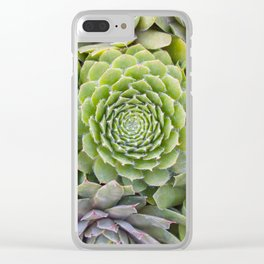 Bountiful Succulents Clear iPhone Case