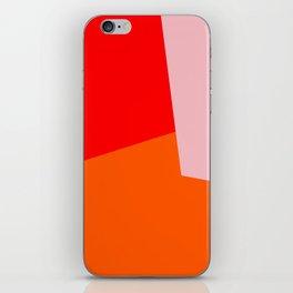 red orange pink iPhone Skin