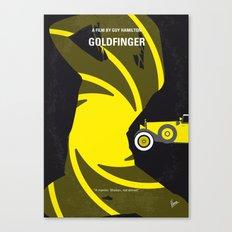 No277-007 My Goldfinger minimal movie poster Canvas Print