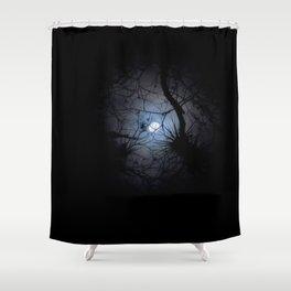 Everglades Moon Shower Curtain