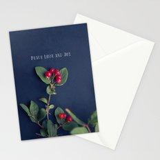 Peace Love & Joy Stationery Cards