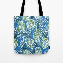 LAPIS PINEAPPLE O'CLOCK Tropical Print Tote Bag